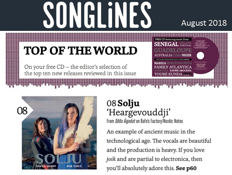 Songlines, Top of the Word (UK), August 2018