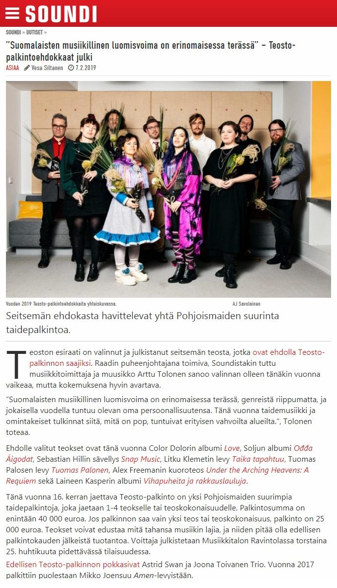 Soundi (Finland), 7.2.2019