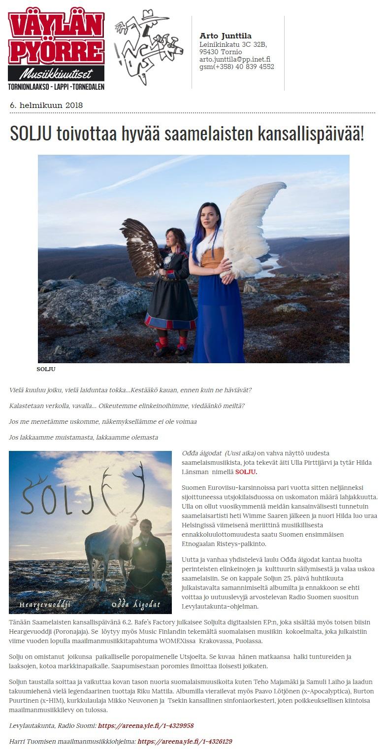 Väylän Pyörre, (Finland), 6.2.2018