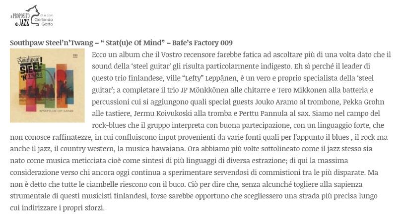 A Proposito di Jazz (Italy), 20.7.2016