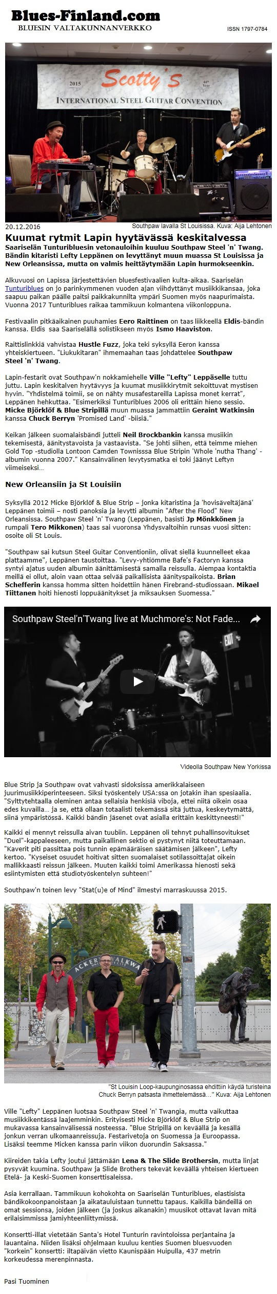 Blues-Finland.com 20.12.2016