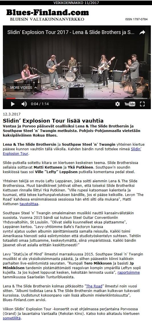 Blues-Finland.com 12.3.2017