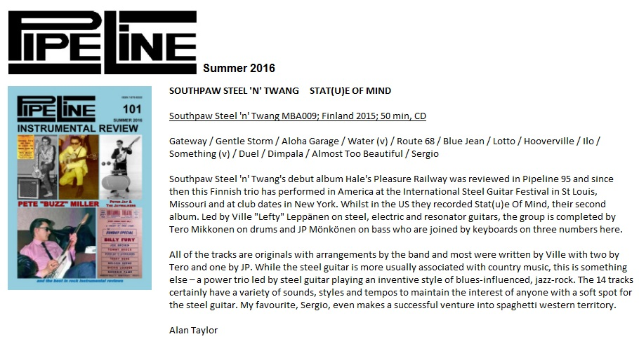 Pipeline (UK), #101 Summer 2016