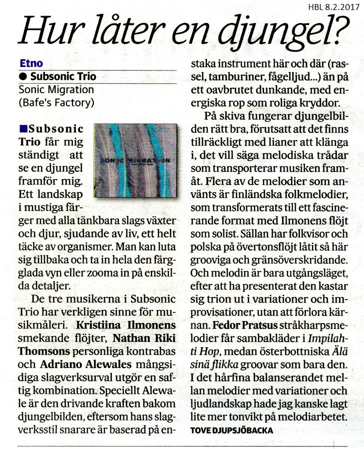 Hufvudstatbladet (Finland), 8.2.2017