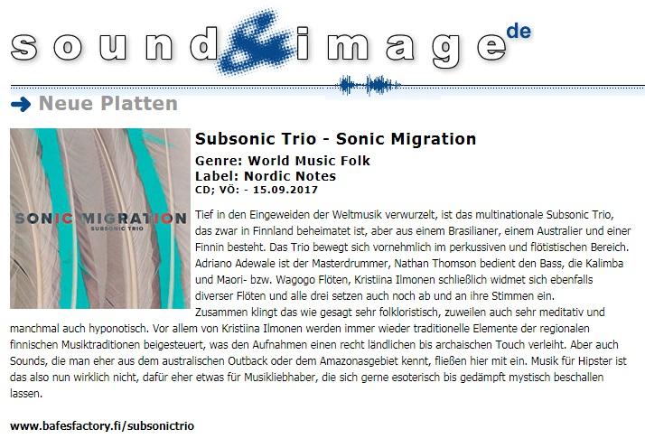 Sound & Image (Germany), 15.9.2017