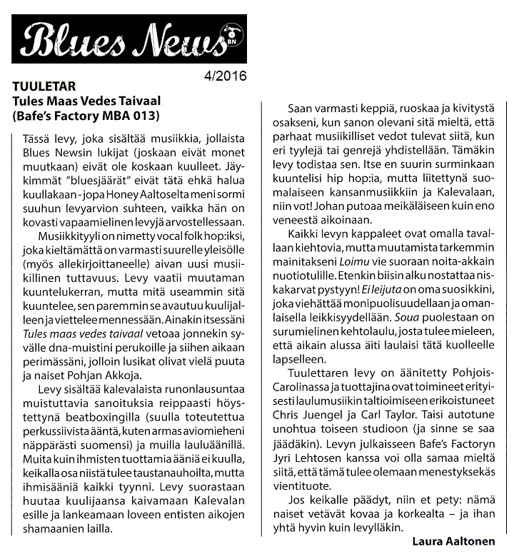 Blues News 4/2016