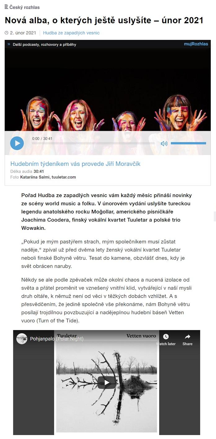 Český rozhlas, Ostrava, Hudba ze zapadlých vesnic (Czech Republic), 2.2.2021