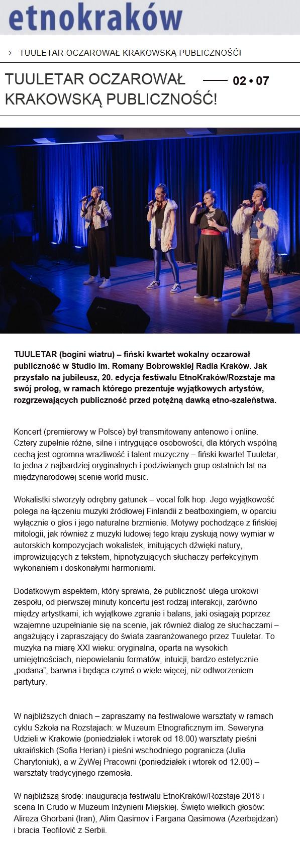 EtnoKraków (Poland), 2.7.2018