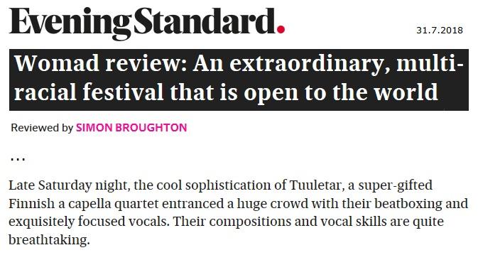 Evening Standard (UK), 31.7.2018