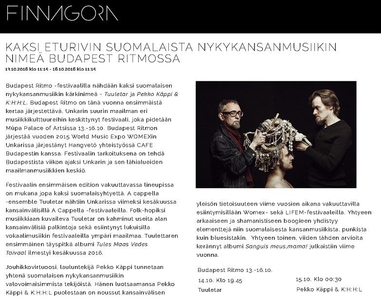 Finnagora, 5.10.2016