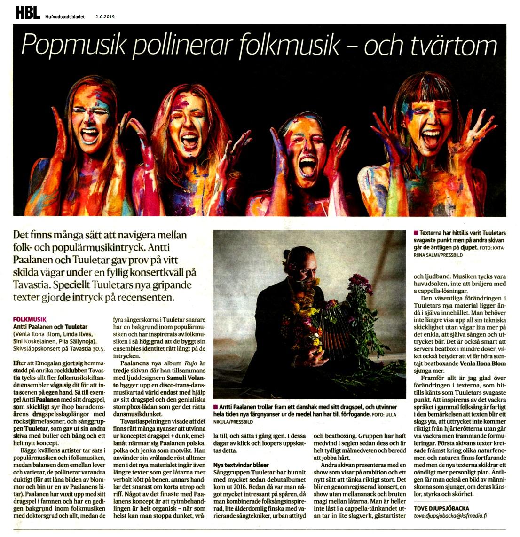 Hufvudstadsbladet (Finland), 2.6.2019