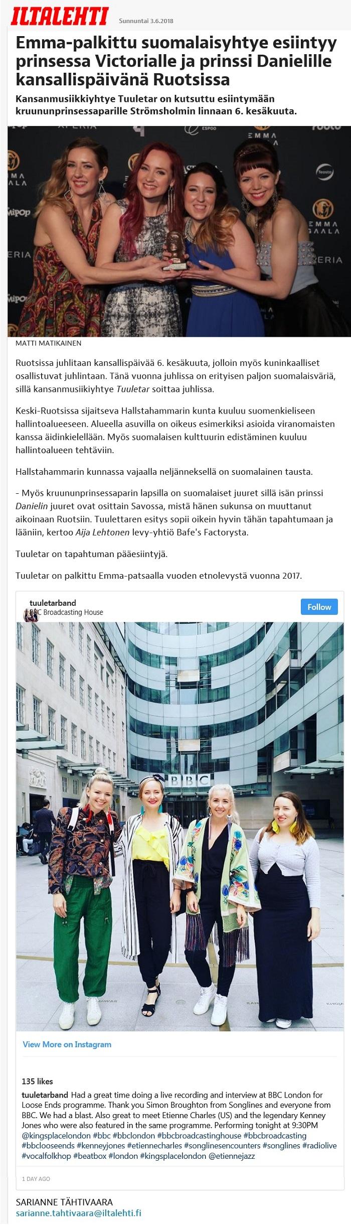 Iltalehti, 2.6.2018
