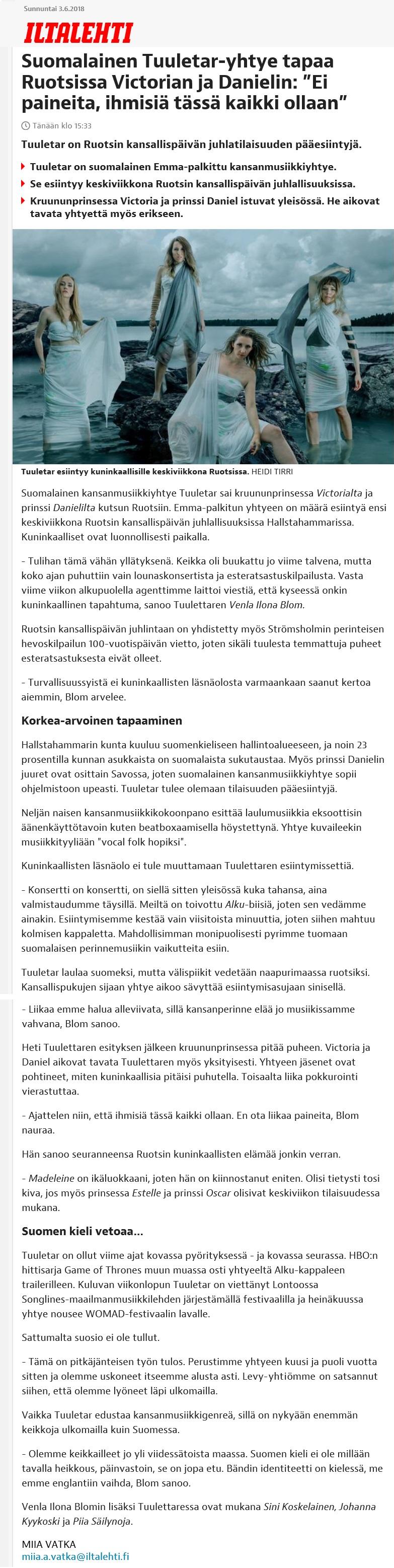 Iltalehti, 3.6.2018