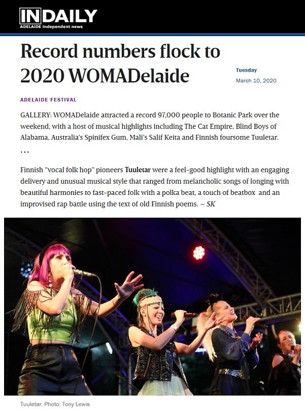 InDaily (Australia), 10.3.2020