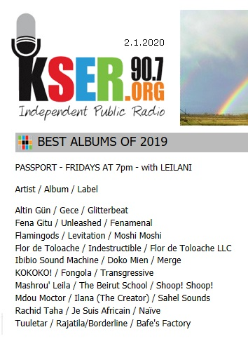 KSER, Best albums of 2019 (USA), 2.1.2020