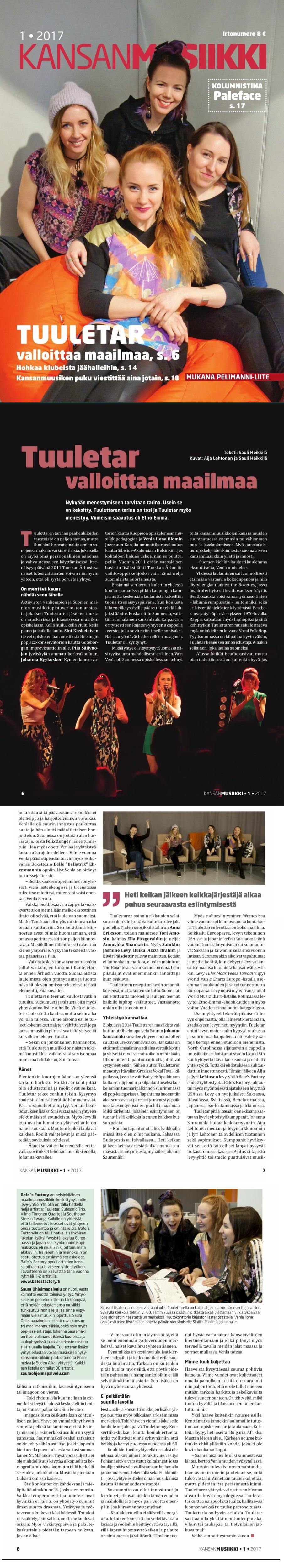 Kansanmusiikki, 1/2017