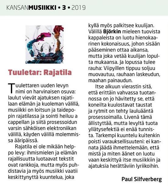 Kansanmusiikki (Finland), 3/2019