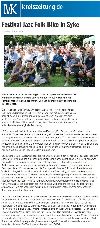 Kreiszeitung (Germany), 10.6.2019