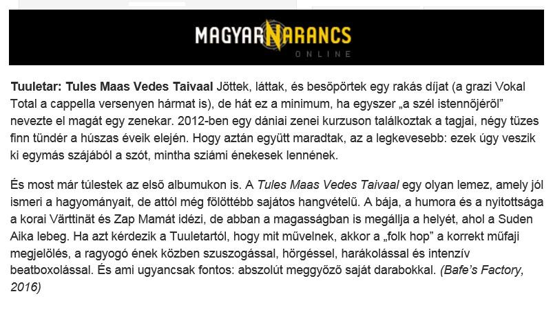 Magyar Narancs (Hungary), 9/2016
