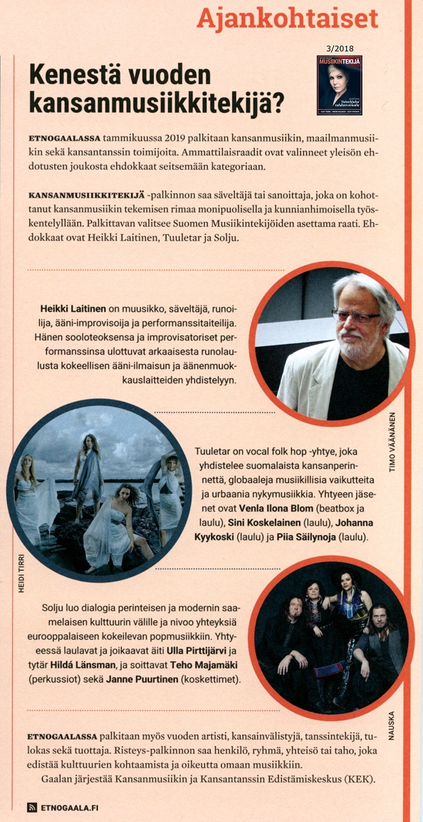 Musiikintekijä-lehti (Finland), 3/2018