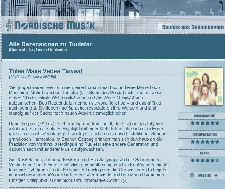 Nordische Musik (Germany), 7.11.2016