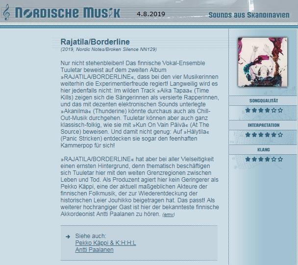 Nordische Musik, (Germany), 4.8.2019