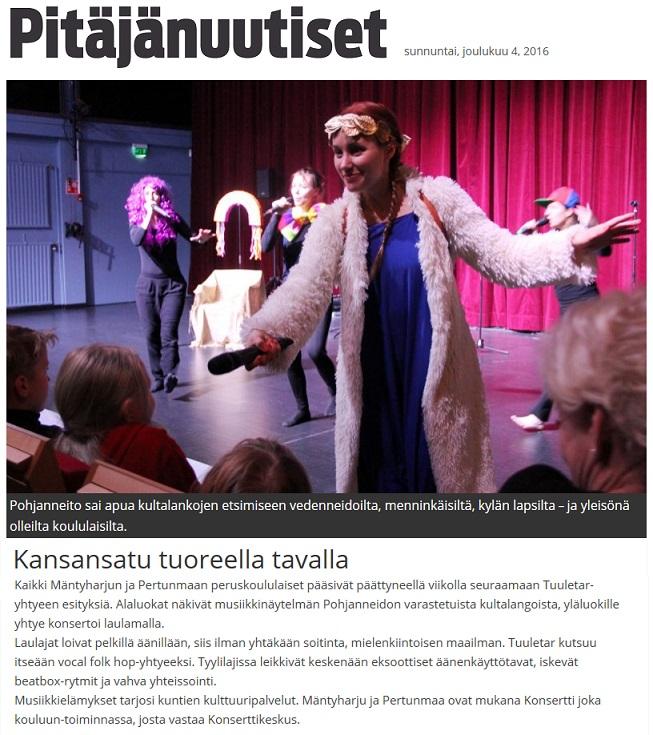 Pitäjänuutiset, 4.12.2016