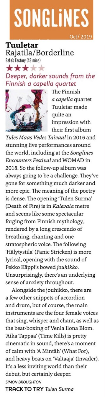 Songlines (UK), October 2019