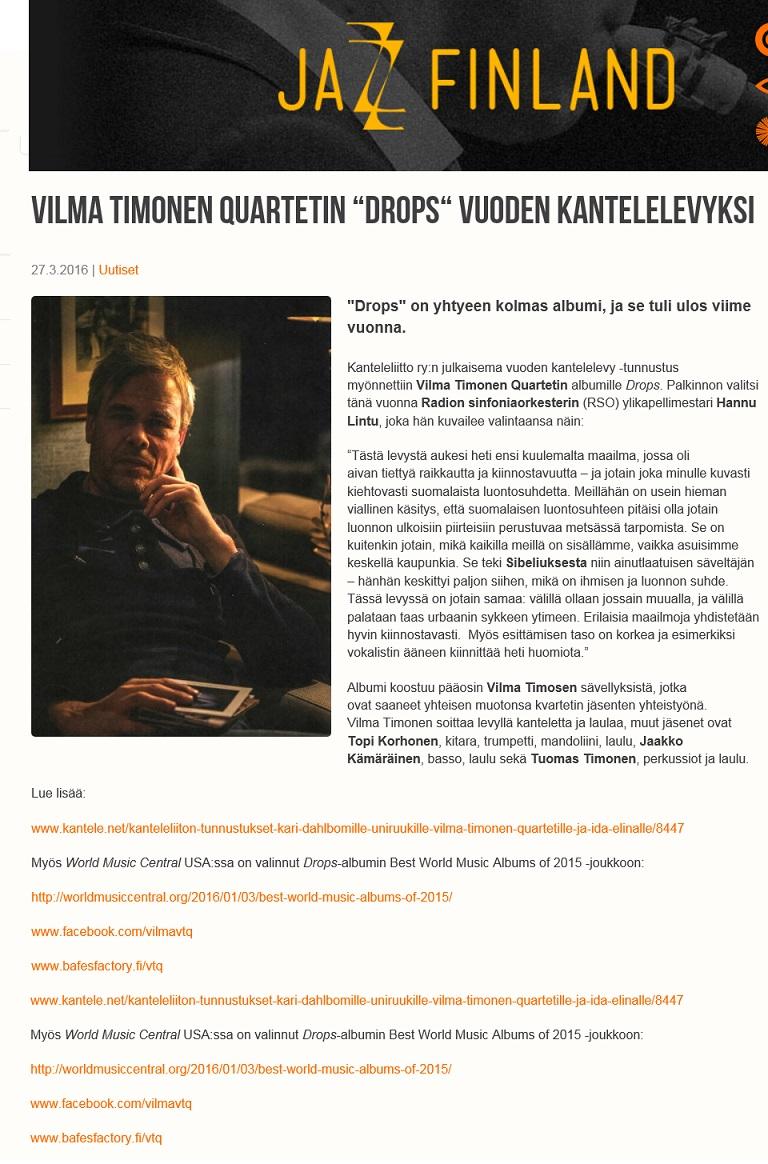 Jazz Finland, 27.3.2016