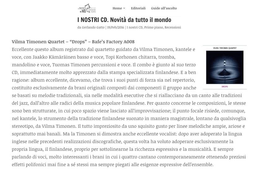 A Proposito di Jazz (Italy), 19.2.2016