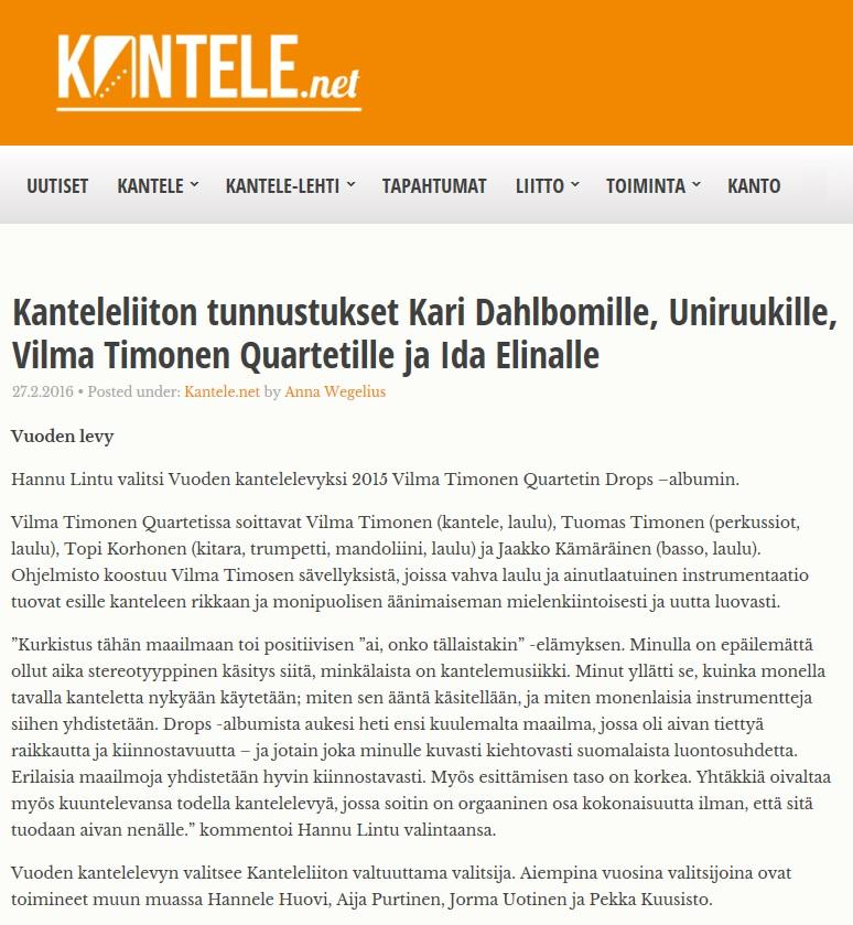 Kantele-lehti (1/2016)