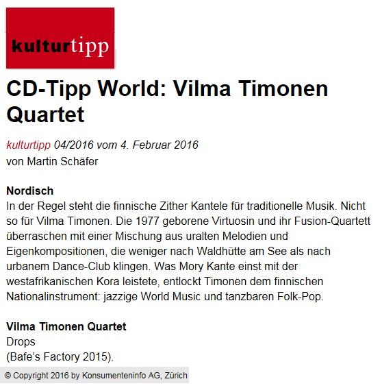 Kulturtipp (Sveitsi), 4.2.2016