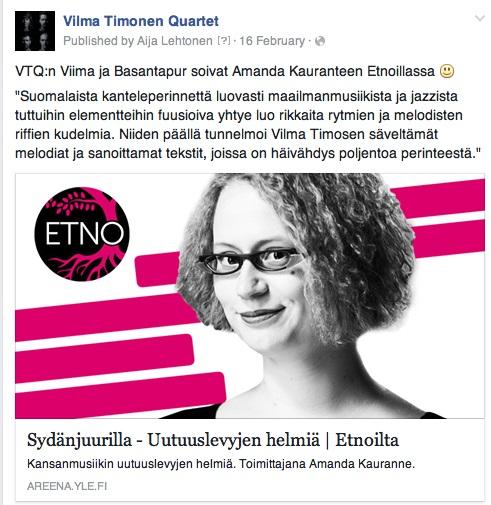 YLE, Etnoilta, 16.2.2016