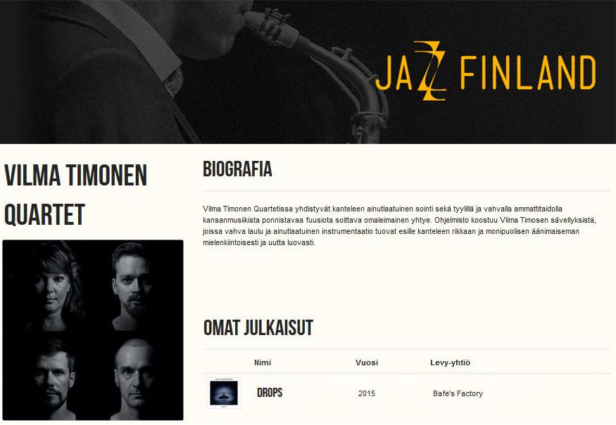 Jazz Finland, 6.12.2015